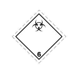 ADR pevná značka na plechu - Infekčná látka (biologické riziko) č. 6.2A (25 x 25 cm)