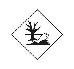 Značka pre látky ohrozujúce životné prostredie - Fólia - 30 x 30 cm, biela