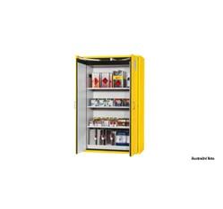 Bezpečnostná skriňa na skladovanie horľavých kvapalín - žltá