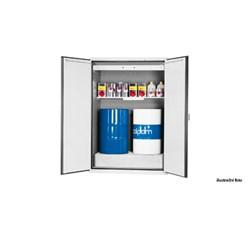 Bezpečnostná skriňa na skladovanie horľavých kvapalín - šedá