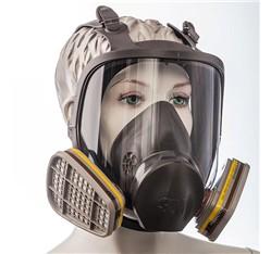 Celotvárová maska so štítom, bez filtrov