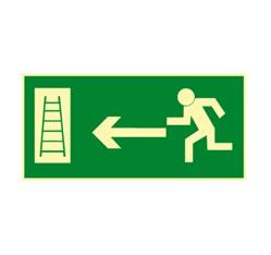 Únikový rebrík vľavo - hliník - 21,0 x 10,5 cm
