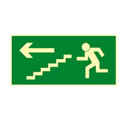 Únikové schodisko vľavo dole - fólie - 30,0 x 15,0 cm