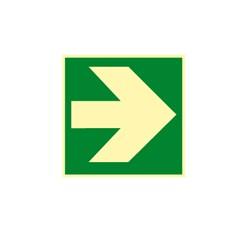 Smerovka k prvej pomoci - zelená (vľavo, vpravo) - hliník - 15,0 x 15,0 cm