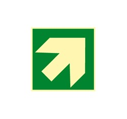 Smerovka k prvej pomoci - zelená (hore, dole) - plast - 15,0 x 15,0 cm