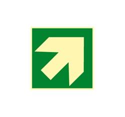 Smerovka k prvej pomoci - zelená (hore, dole) - hliník - 20,0 x 20,0 cm