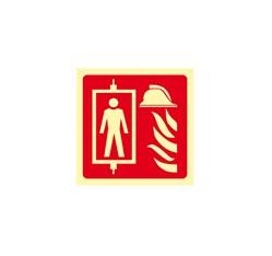 Požiarny výťah - fólie - 20,0 x 20,0 cm