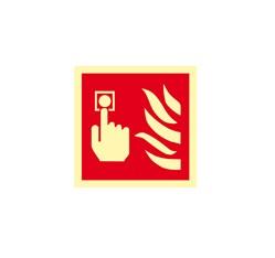 Hlásič požiaru - plast - 10,5 x 10,5 cm