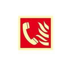 Ohlasovňa požiaru - hliník - 20,0 x 20,0 cm