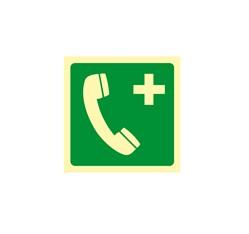 Tiesňový telefón - hliník - 15,0 x 15,0 cm