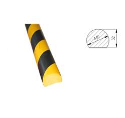 Ochranná a výstražná hrana, čierno-žltá (∅ 4 x 100 cm)