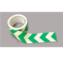Fotoluminiscenčná orientačná páska hliníková – smerová šípka (2500 x 3 cm)