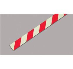 Fotoluminiscenčná samolepiaca páska hliníková ČERVENÁ - ľavá (100 x 1,5 cm)