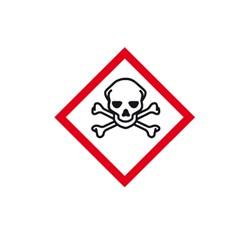 Toxické látky 3x3 cm (10 ks)