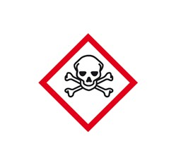 Toxické látky 5x5 cm (10 ks)
