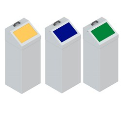 Kovový odpadkový kôš 100 l s farebným vekom