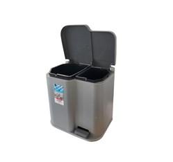 Curver odpadkový kôš Duo šedý, pre tiedenie odpadu, 15 l + 6 l