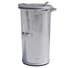 Kovová nádoba na odpad 110 l, okrúhla
