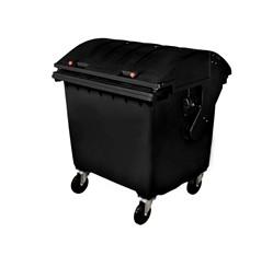 Zberný kontajner 1100 litrov, čierny