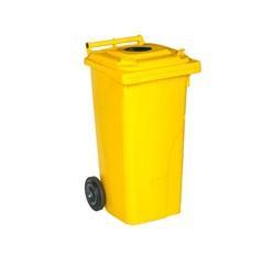 Nádoba na separovaný odpad s otvorom vo veku žltá – plast ( 240 l)