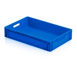 Plastová EURO prepravka 60 x 40 x 12 cm, modrá