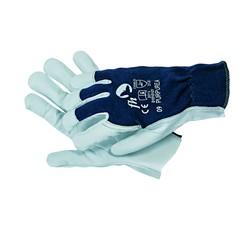 Pracovné rukavice, na dlani jemná koža, veľkosť 10