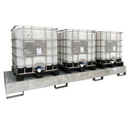 Pozinkovaná záchytná vaňa pod 3 IBC kontejnery