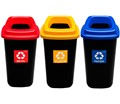 Plastový odpadkový kôš SORT BIN s  farebným vekom - 28 l